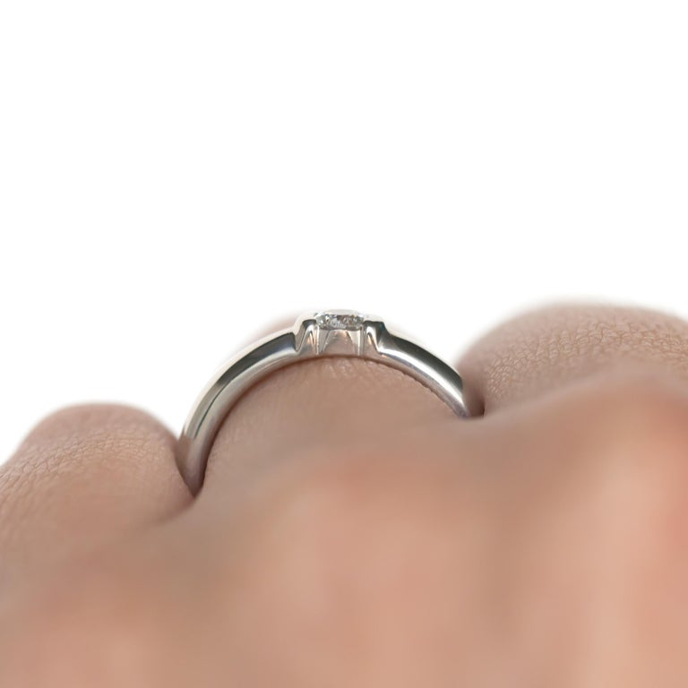 Tiffany & Co. .20 Carat Platinum Engagement Ring For Sale 5