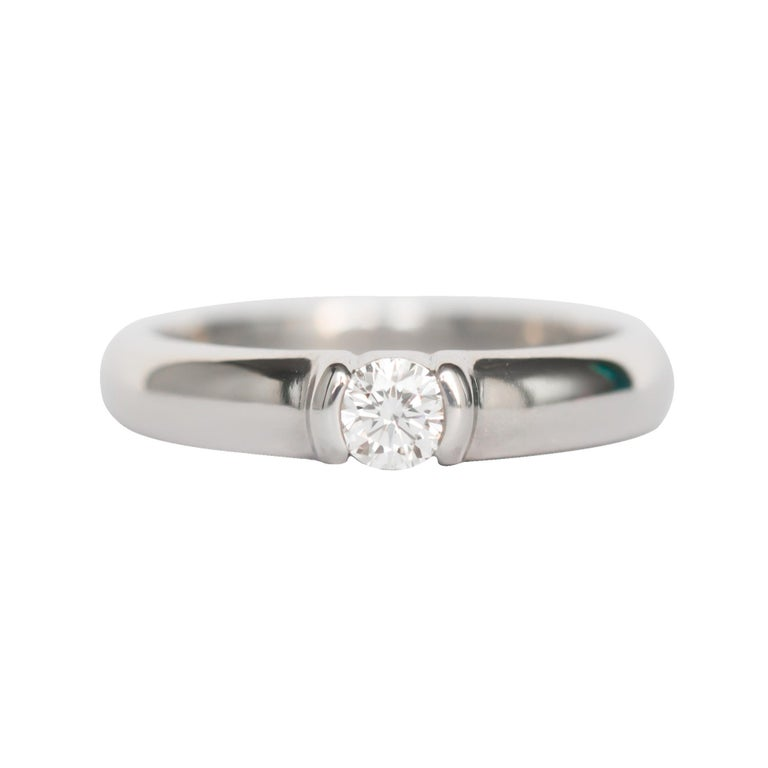 Tiffany & Co. .20 Carat Platinum Engagement Ring For Sale