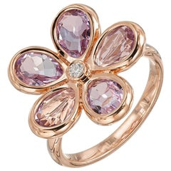 Tiffany & Co. 2.00 Carat Amethyst Diamond Rose Gold Cocktail Ring