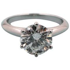 Tiffany & Co. 2.01 Carat D VVS1 Platinum Solitaire Diamond Engagement Ring