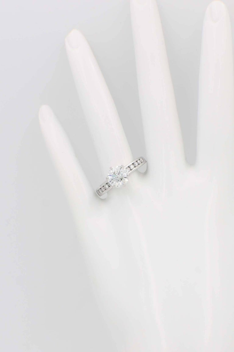 d25b74cd550 Tiffany   Co. 2.01 Carat F VVS1 Platinum Diamond Engagement Ring For Sale 2