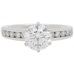Tiffany & Co. 2.01 Carat F VVS1 Platinum Diamond Engagement Ring