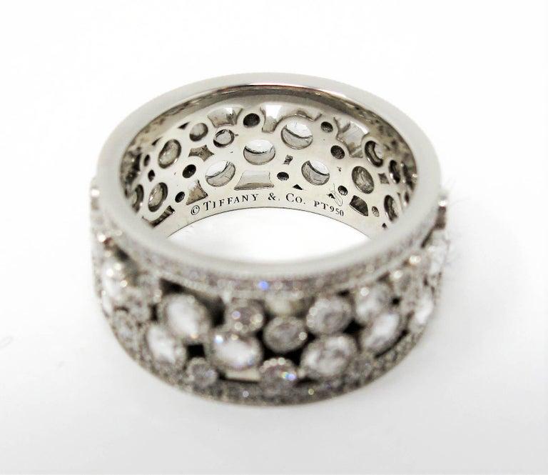 Tiffany & Co. 2.10 Carat Rose-Cut Diamond Cobblestone Platinum Band Ring For Sale 5