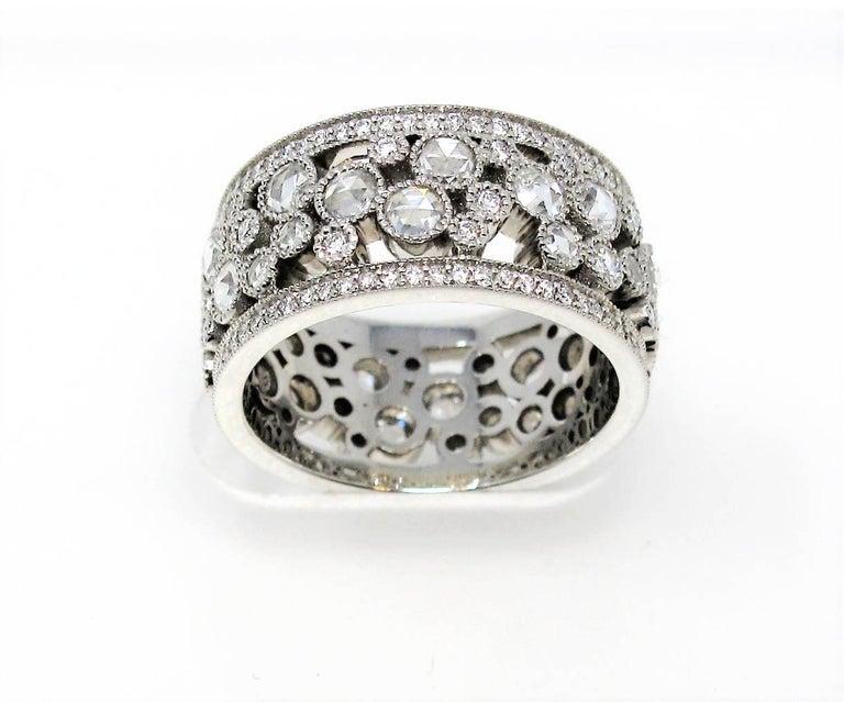 Tiffany & Co. 2.10 Carat Rose-Cut Diamond Cobblestone Platinum Band Ring For Sale 1
