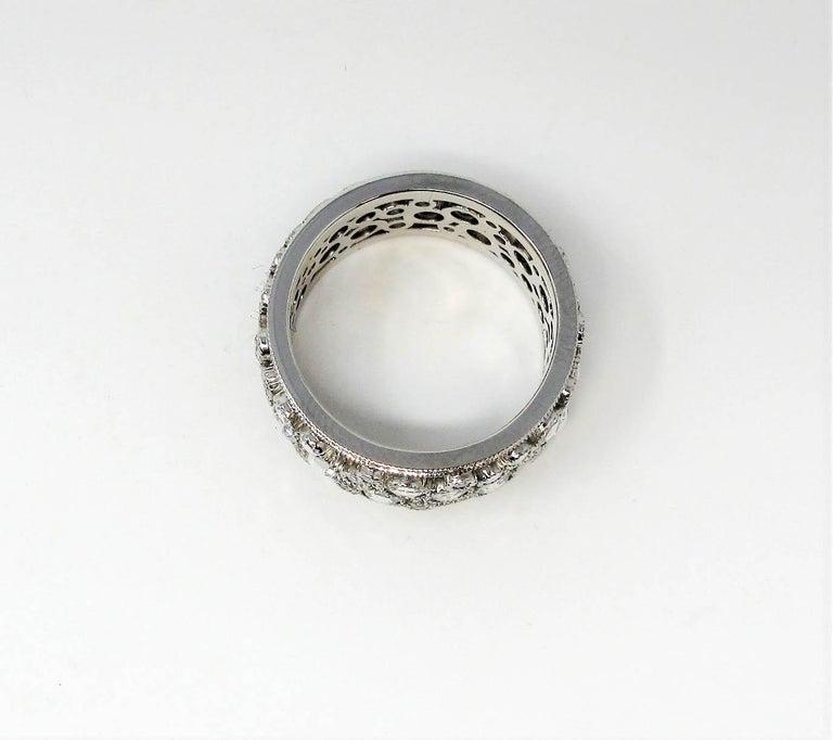 Tiffany & Co. 2.10 Carat Rose-Cut Diamond Cobblestone Platinum Band Ring For Sale 4