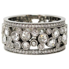 Tiffany & Co. 2.10 Carat Rose-Cut Diamond Cobblestone Platinum Band Ring