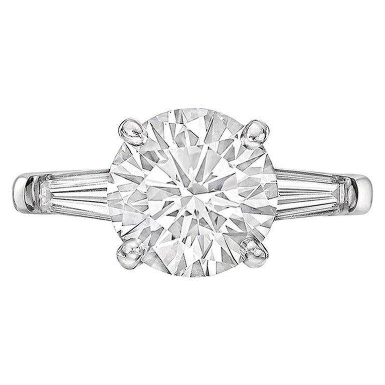 Tiffany & Co. 2.18 Carat Round Brilliant Diamond Ring 'G/VS2' In Excellent Condition In Greenwich, CT