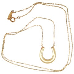 Tiffany & Co. Long 18 Karat Yellow Gold Horseshoe Necklace