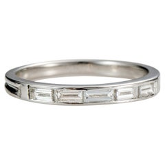 Tiffany & Co .25 Carat Baguette Diamond Platinum Band