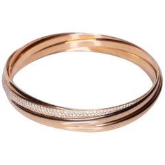 Tiffany & Co 2.69 Carat Diamond 18 Karat Rose Gold Bangle