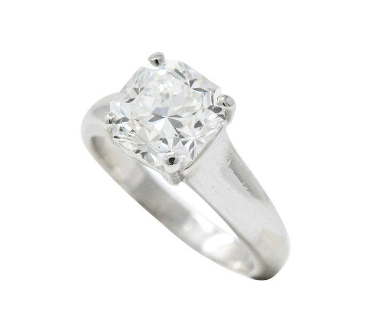 Tiffany Co Platinum Lucida 2mm Wedding Band Ring Sz 8: Tiffany And Co. 2.79 CTS Diamond And Platinum Lucida