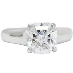Tiffany & Co. 2.79 CTW Lucida Diamond Platinum Engagement Ring GIA Circa 1999