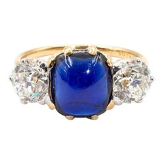 Tiffany & Co 2.94 Carat No Heat GIA Certified Sapphire and Diamond Antique Ring
