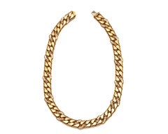 Tiffany & Co. 3 Carat Diamond Graduated Link Necklace, 18 Karat Gold