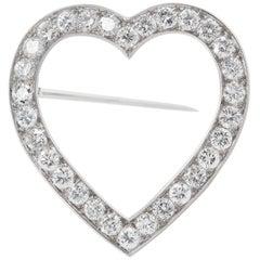 Tiffany & Co. 3.00 Carat Diamond Heart Pin
