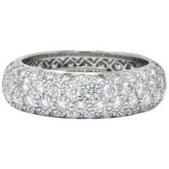 Tiffany & Co. 3.00 Carat Diamond Platinum Etoile 4-Row Eternity Band Ring