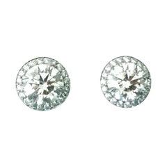 Tiffany & Co. 3.90 Carat Soleste Platinum and Diamond Earrings