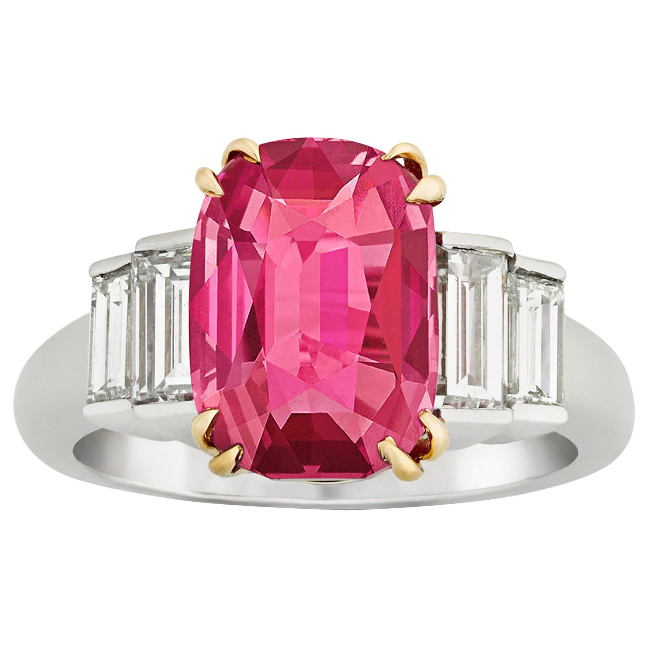 ba643da19 Tiffany and Co. 4.02 Carat Burma Ruby Ring For Sale at 1stdibs