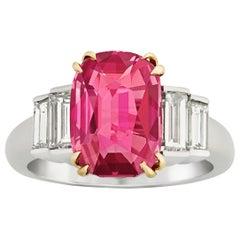 Tiffany & Co. 4.02 Carat Burma Ruby Ring