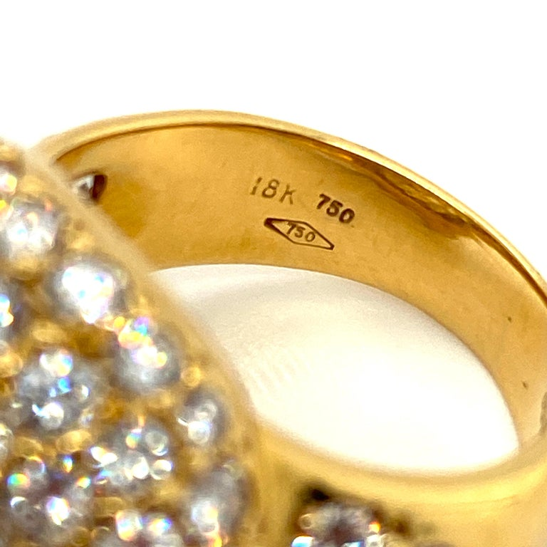 Tiffany & Co. 4.22 Carat Pave Diamond Dome Ring in 18 Karat Yellow Gold For Sale 3