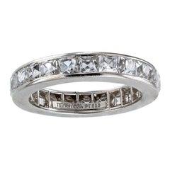 Tiffany & Co 4.50 Carat French Cut Diamonds Platinum Eternity Ring