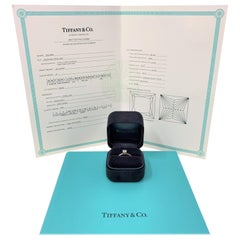 Tiffany & Co. .55 Carat Square Solitaire Diamond Engagement Ring G VS2