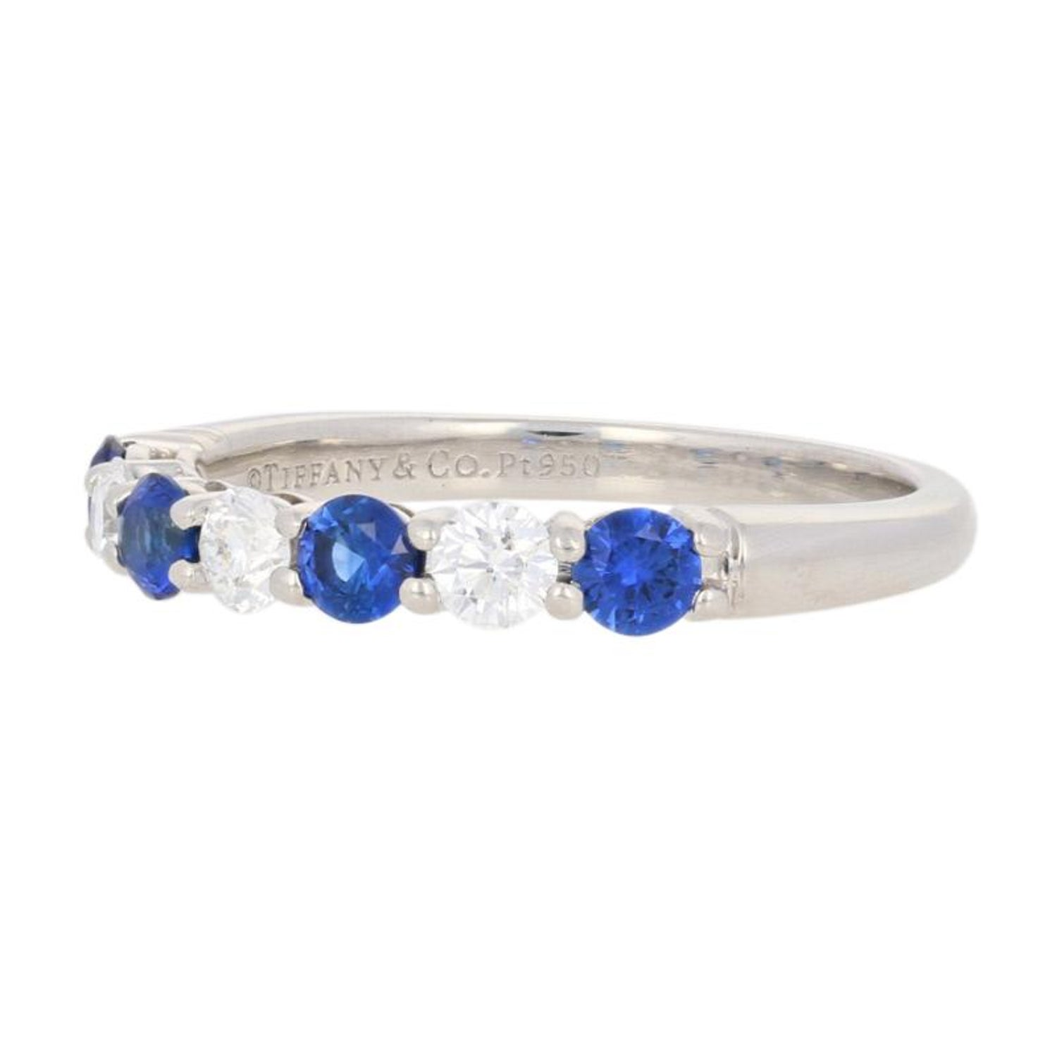 Tiffany And Co 64ctw Sapphire And Diamond Ring 950 Platinum