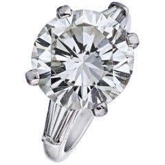 Tiffany & Co. 7.45 Carat Round Cut Diamond Three-Stone Engagement Ring