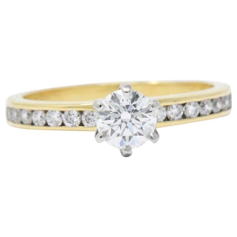 57b96fc25 Tiffany & Co. .81 CTW Diamond 18K Gold & Platinum Engagement Ring ...