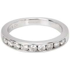 Tiffany & Co. 9-Stone Diamond Wedding Band in Platinum 0.45 Carat
