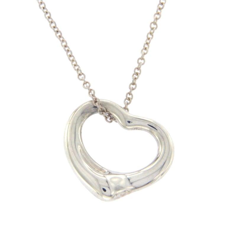 2a2f9c052b522 Tiffany & Co. 925 Silver Elsa Peretti Open Hearts Necklace