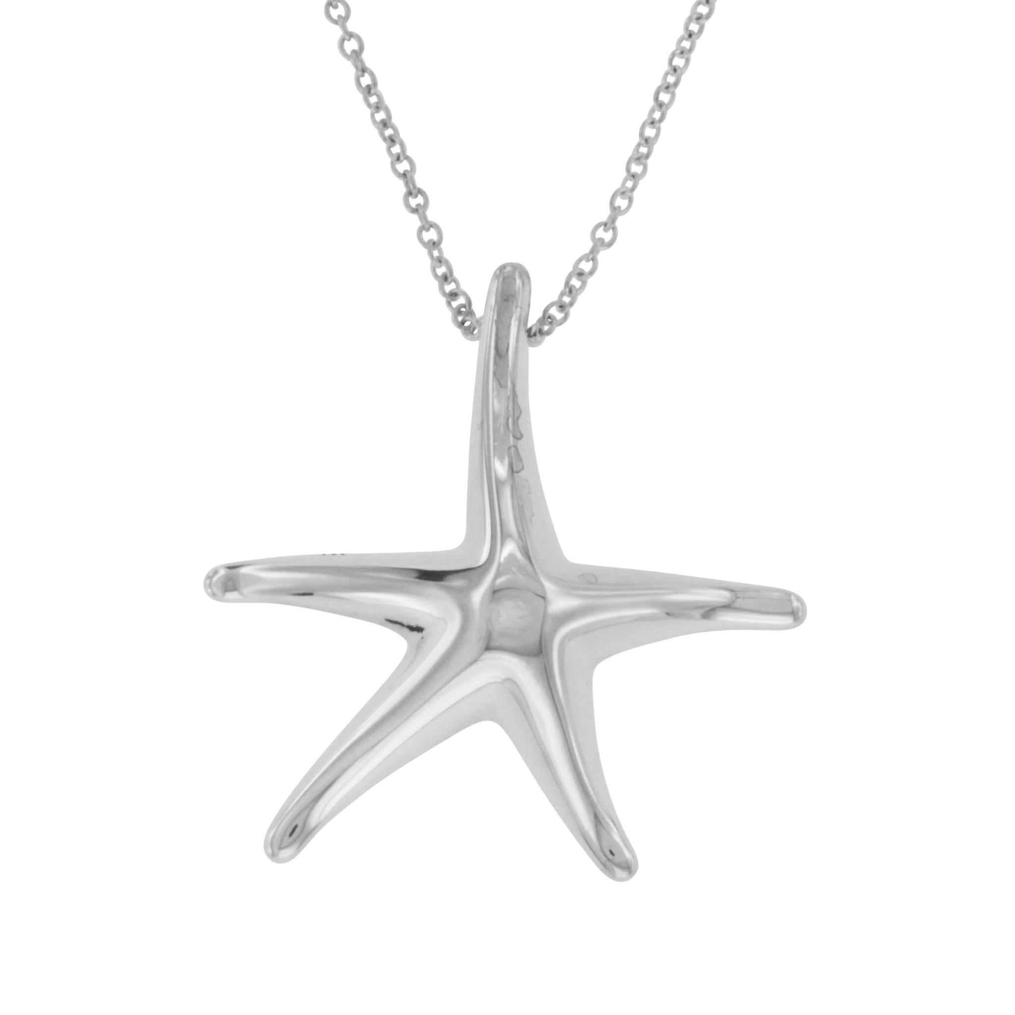 896d2f35f62ad Tiffany and Co. 925 Silver Elsa Peretti Starfish Pendant Necklace at 1stdibs