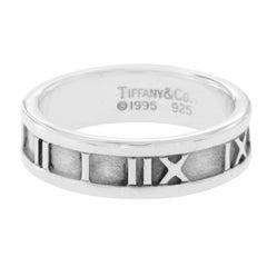 Tiffany & Co. 925 Sterling Silver Atlas Roman Band Ring