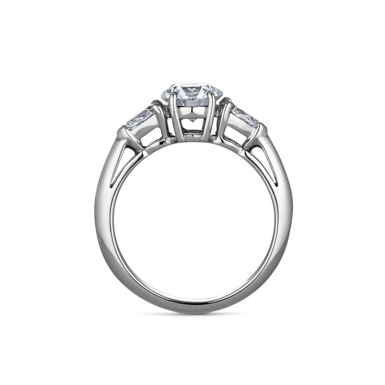 Round Cut Tiffany & Co. .93 Carat Round Brilliant Cut Diamond Engagement Ring For Sale