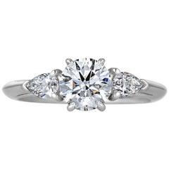 Tiffany & Co. .93 Carat Round Brilliant Cut Diamond Engagement Ring