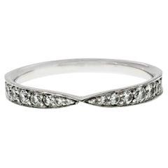 Tiffany & Co 950 Platinum Diamond Harmony Band Ring
