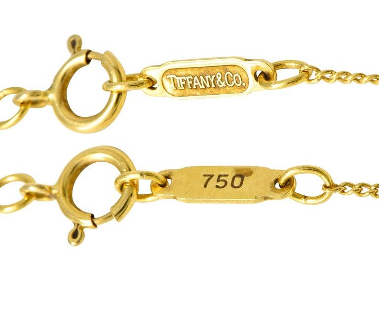 Tiffany & Co. Amethyst 18 Karat Gold Cross My Heart Necklace For Sale 1