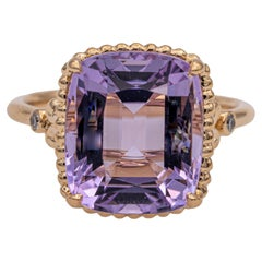 Tiffany & Co. Amethyst and Diamond Sparklers Cocktail Ring in 18K Rose Gold