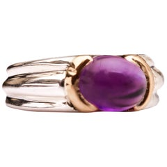 Tiffany & Co. Amethyst Ring in Two-Tone Gold
