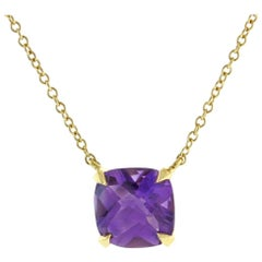 Tiffany & Co. Amethyst Sparkler Gold Pendant
