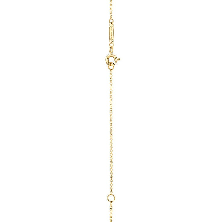 Women's or Men's Tiffany & Co. Ampersand Pendant in 18k Gold with .07 Ctw Diamonds For Sale