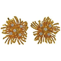 Tiffany & Co. Anemone Gold Diamond Earrings