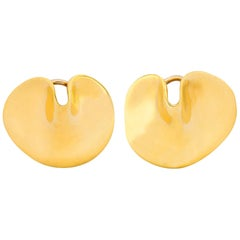 Tiffany & Co. Angela Cummings 18 Karat Gold Lily Pad Ear-Clip Earrings