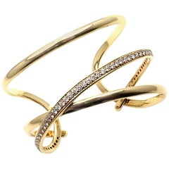 Tiffany & Co. Angela Cummings Diamond Yellow Gold Bangle Bracelet, 1980