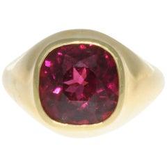 Tiffany & Co. Angela Cummings Rhodolite Garnet Gold Ring