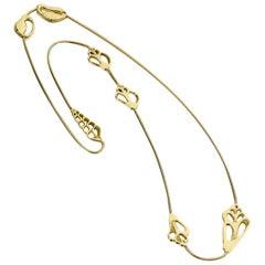 Tiffany & Co. Angela Cummings Yellow Gold Seashell Necklace