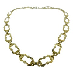 Tiffany & Co. Antique 14 Karat Yellow Gold Link Necklace Rare