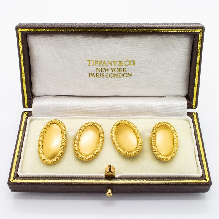 Edwardian Tiffany & Co. Antique Gold Cufflinks, circa 1910 For Sale