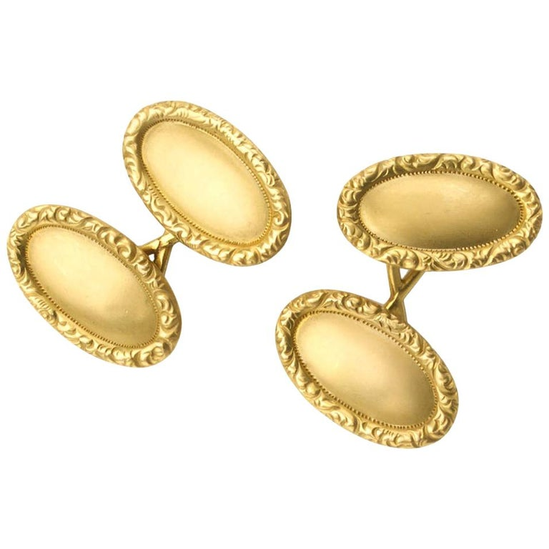 Tiffany & Co. Antique Gold Cufflinks, circa 1910 For Sale