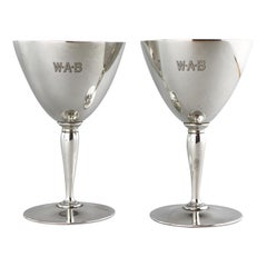 Tiffany & Co. Antique Sterling Silver Pair of Goblets